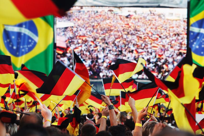 German soccer fans, public viewing
